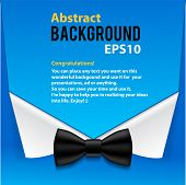 Abstract official paper elements blue background