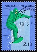 Postage Stamp Finland 1991 Skiing