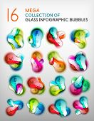 Mega collection of abstract bubble infographics.