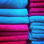 Red And Blue Towels