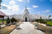 White Pagoda Of Hsinbyume Paya Temple, Mingun, Mandalay - Myanmar