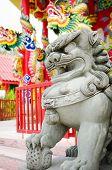 Stone Guardian Lion Statue