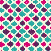 Vintage seamless pattern hipsters. Vector EPS10. Illustration with texture for print, web seamless p