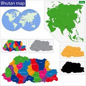 Map of administrative divisions of Bhutan