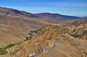 Curly Road In The High Atlas Mountains In Morocco