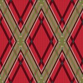 Rhombic Tartan Red And Green Fabric Seamless Texture