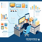 Office Business Infographic Elements