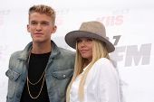 LOS ANGELES - MAY 10:  Cody Simpson, Alli Simpson at the 2014 Wango Tango at Stub Hub Center on May 10, 2014 in Carson, CA