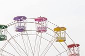 Ferris wheel on white background