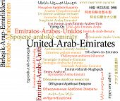 United Arab Emirates in word clouds