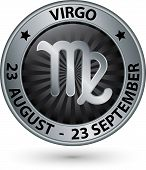 pic of virgo  - Virgo zodiac silver sign virgo symbol vector illustration - JPG