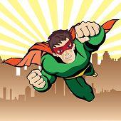 Super hero flying vector