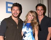 LOS ANGELES - MAY 6:  Scott Cllifton, Kim Matula, Darin Broooks at the Bold & Beautiful Celebrates E