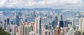 Panorama Hong Kong Skyline from Victoria Peak