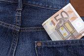 Euros (eur) In A Pocket.