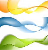 Shiny waves banners. Vector design template