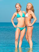 In Bikini Couple Relaxating
