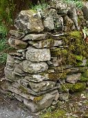 End of drystone wall