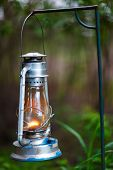 image of kerosene lamp  - Close up of kerosene lamp used in safari camp in Africa - JPG