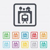 ������, ������: Metro sign icon Metro train symbol