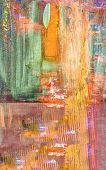 Very Nice Image of a large scale abstract Original painting