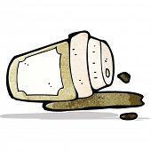spilled take out coffee cartoon