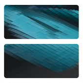 Vector business cards design set