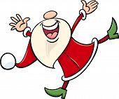 Happy Santa Claus Cartoon Illustration