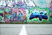 Colorful Graffiti Wall