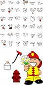 firefighter kid cartoon set1
