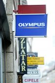 Olympus Shop Sign In City Centre