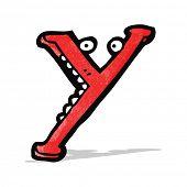 cartoon letter y