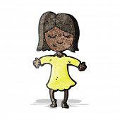 cartoon happy girl
