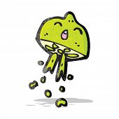 stock photo of squirting  - cartoon squirting lime - JPG