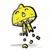 picture of squirting  - cartoon squirting lemon - JPG