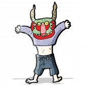 cartoon man in mask dancing