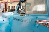 Old American Car Cabin In Cuba