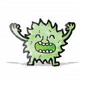 cartoon furry little monster poster