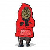 cartoon man in coat