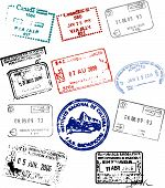 American and European Passport Stamps