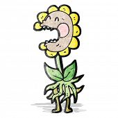 cartoon carnivorous flower