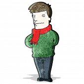 cartoon nervous man