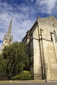 St Michel cathedral high tower in bordeaux, france