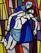 Jesus' body is removed from the cross