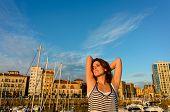 Relaxed Tourist Enjoying European Summer Vacation