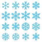 Various winter snowflakes vector set