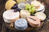 plate with french cheese