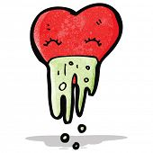 cartoon love sick heart
