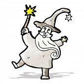 wizard casting spell cartoon