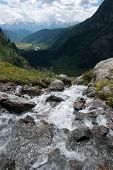 Mountain Waterall And River
